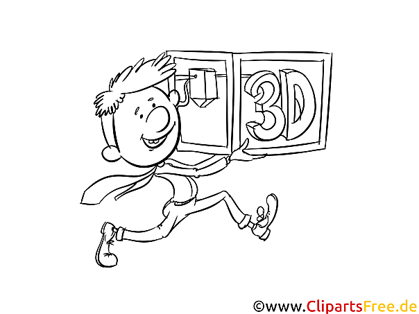 3D-Modelling Malvorlage kostenlos