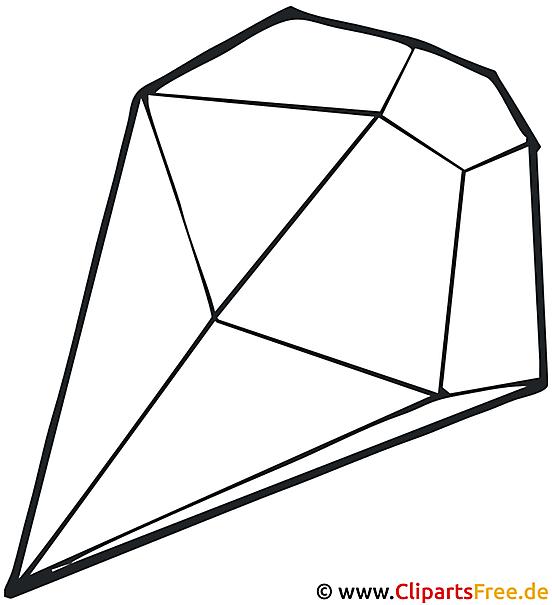 Diamant Bild zum Ausmalen gratis