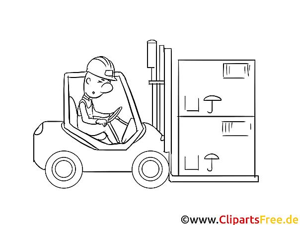 Ladefahrzeug Ausmalvorlage kostenlos