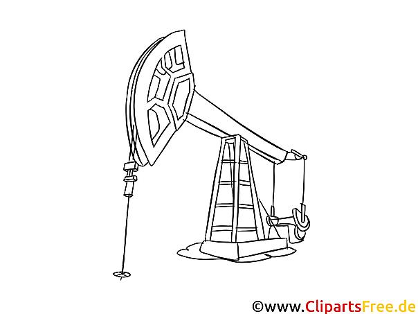 Ölpumpe Malvorlage, Bild, Grafik zum Ausmalen