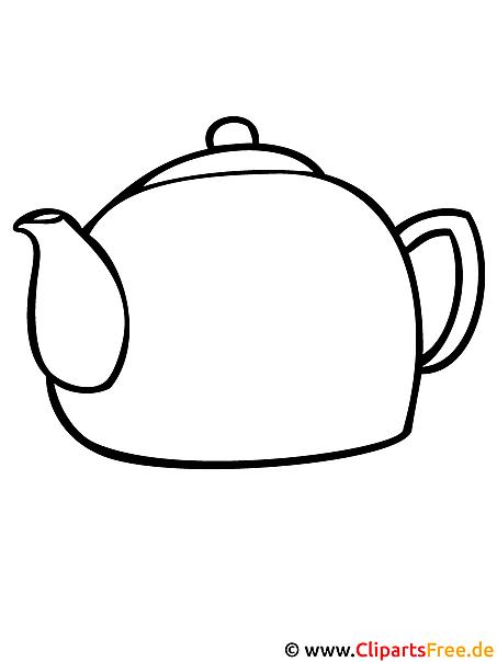 Teekanne Malvorlage kostenlos