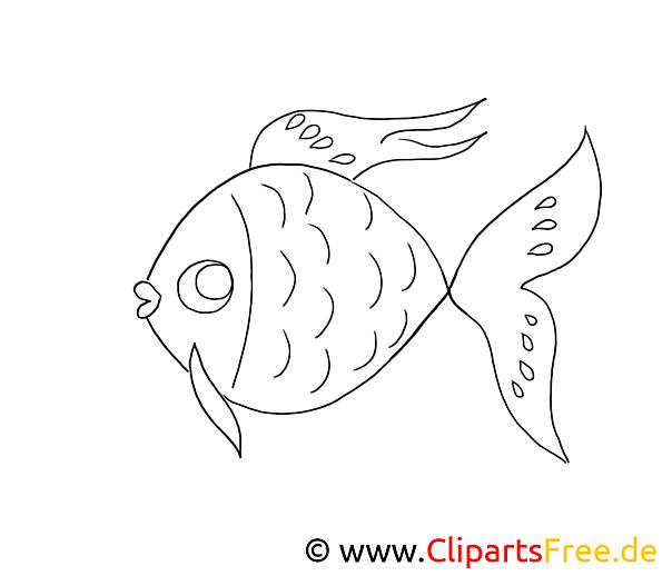 Ausmal Bilder Fische