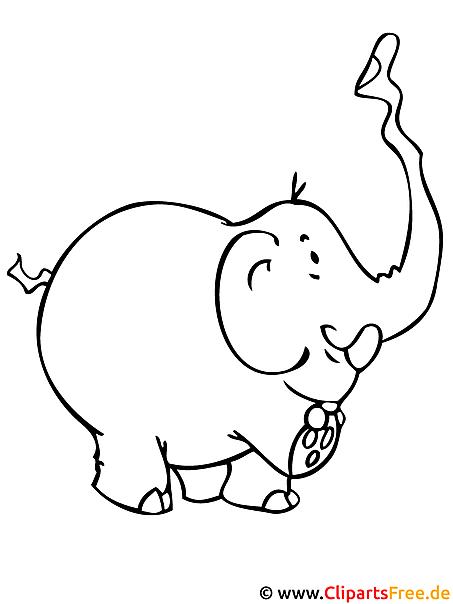 Ausmalvorlage Elefant