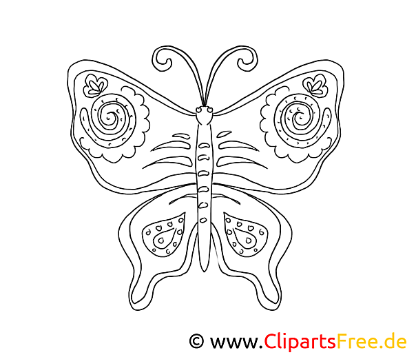 Butterfly Coloring Sheet