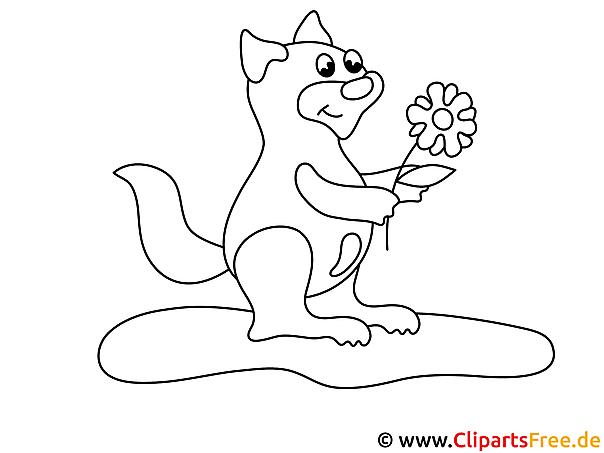 Comic Tiere zum Ausmalen Bilder