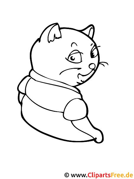 Katze Bild Zum Ausmalen Tiere Ausmalbilder