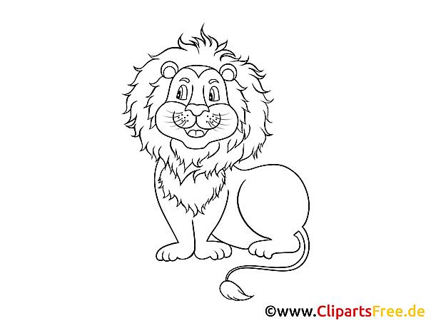 Kolorowanka dla małych dzieci online lew