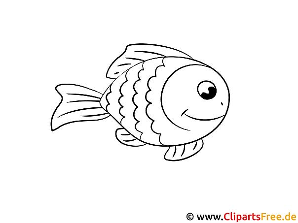 Kostenloses Ausmalbild Fisch