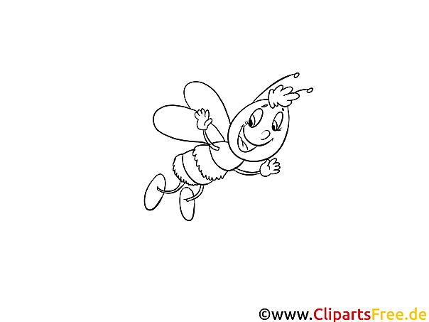 Lustige Biene Kostenlose Ausmalbilder und Malvorlagen