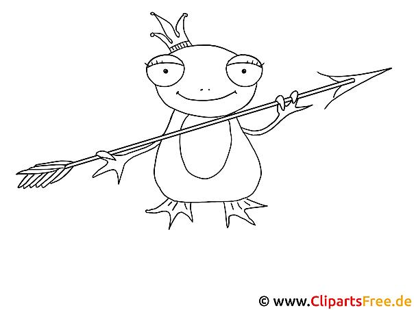 Märchen Ausmalbild Frosch