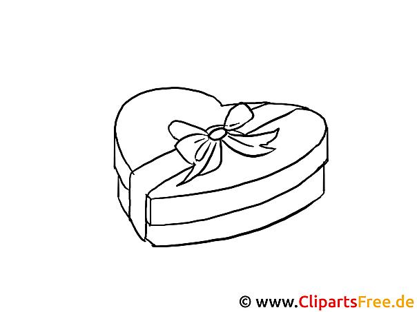 Geschenk Herz Valentinstag Bilder zum Ausmalen