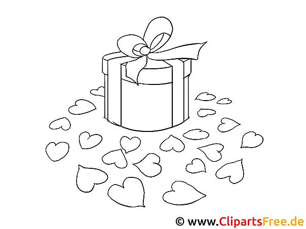 Geschenk Valentinstag Malvorlagen und kostenlose Ausmalbilder