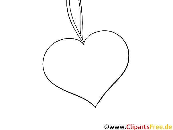 Herz Ausmalbild gratis