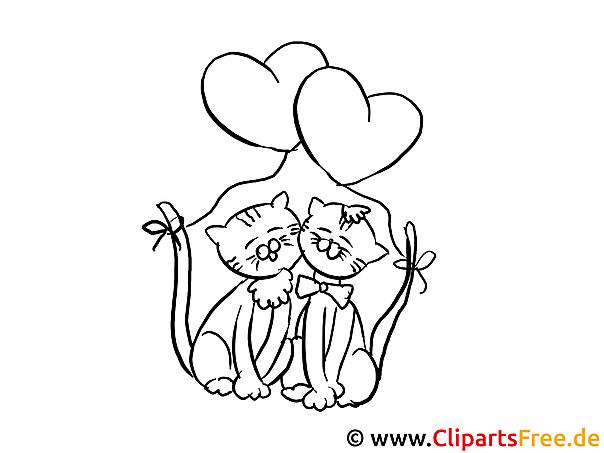 Katzen Valentinstag Ausmalbilder Für Kinder Kostenlos Ausdrucken
