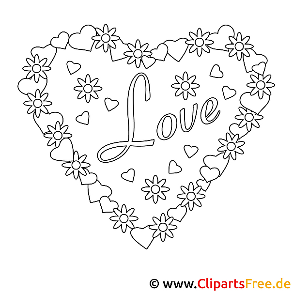 Coloring Pages With Hearts And Flowers