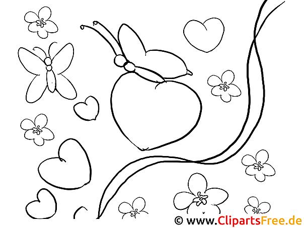 Schmetterlinge Valentinstag Ausmalbilder Für Kinder Kostenlos Ausdrucken