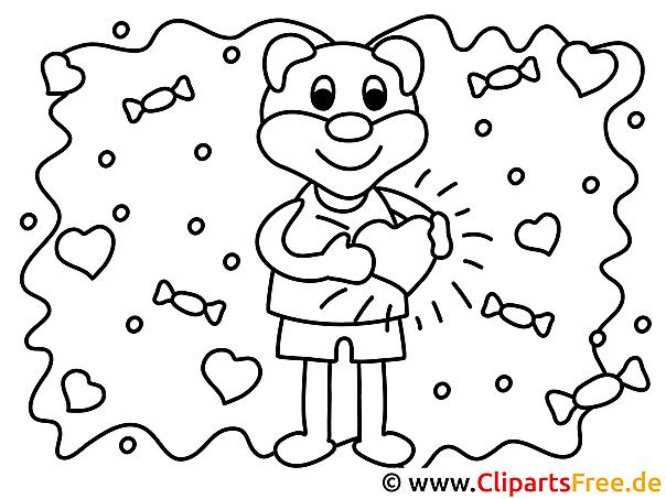 Verliebt Valentinstag Ausmalbilder Für Kinder Kostenlos Ausdrucken