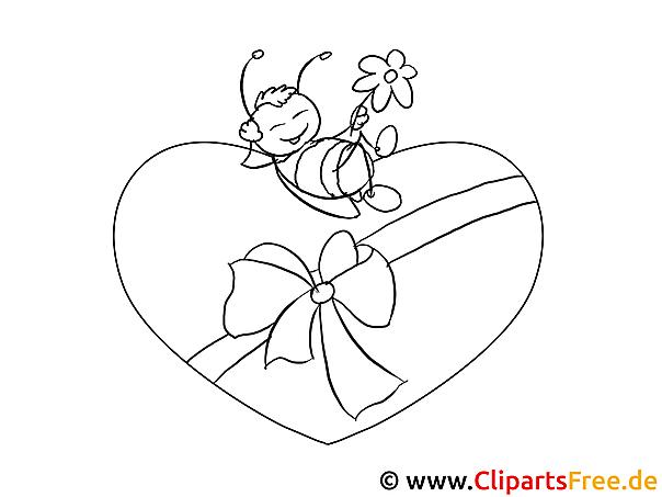 Verliebte Biene Valentinstag Bilder Zum Ausmalen