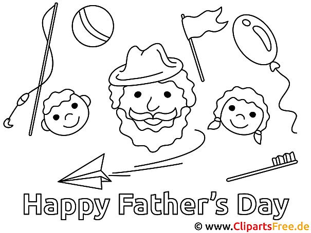 Kostenlose Vatertag Bilder, Gifs, Grafiken, Cliparts zum Ausmalen