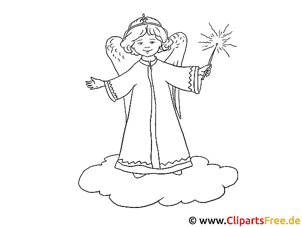 ausmalbild engel im himmel