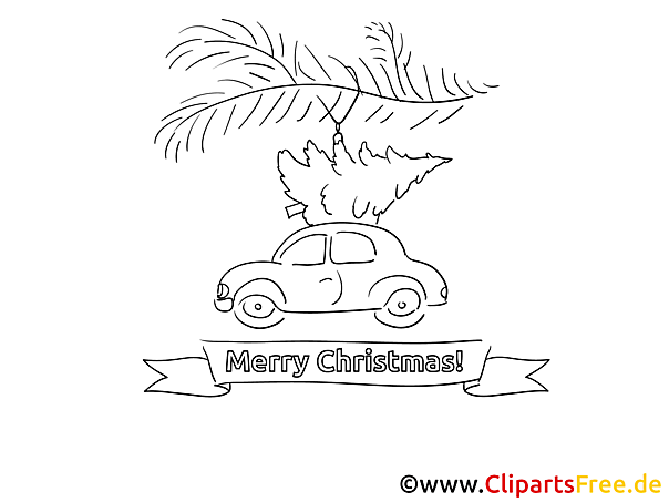 Christmas Colouring Image