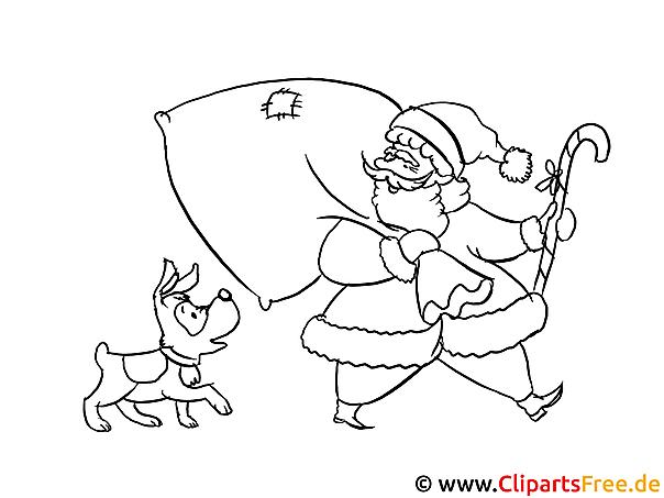 Druckbilder zum Ausmalen zu Weihnachten