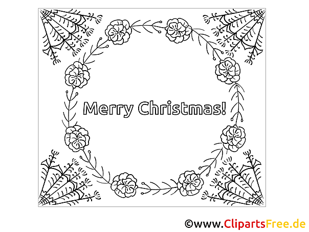 Kranz zu Weihnachten zum Drucken