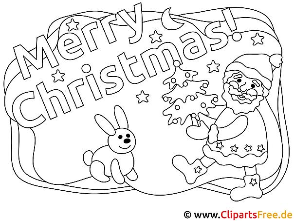 Merry Christmas Malvorlage