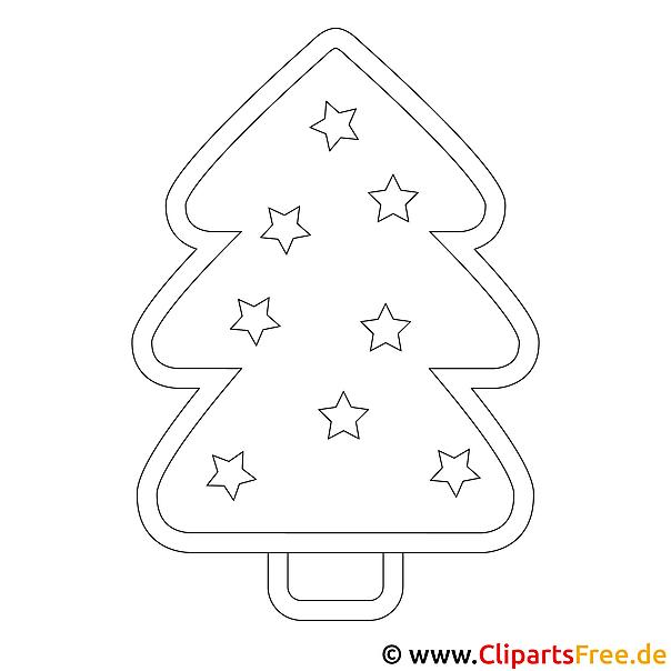 Windowcolor Malvorlagen zu Weihnachten - Weihnachtsbaum zum Ausdrucken