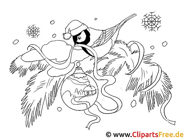 Bild zum ausmalen vogel - Winterliche bilder kostenlos ...