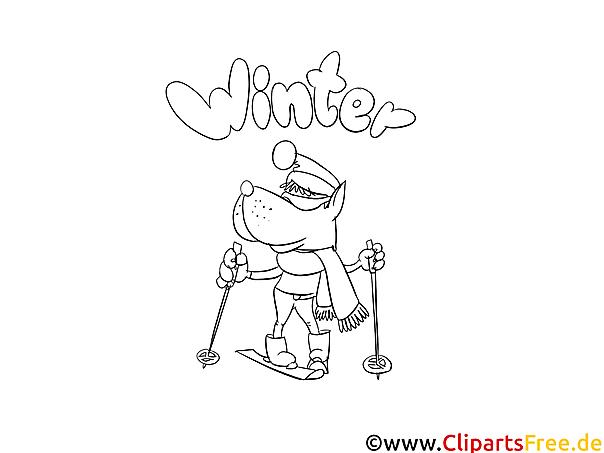 Malvorlage Winter