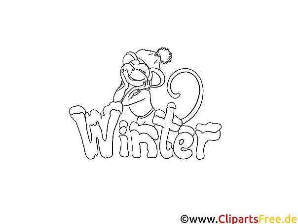 Winter Malbild