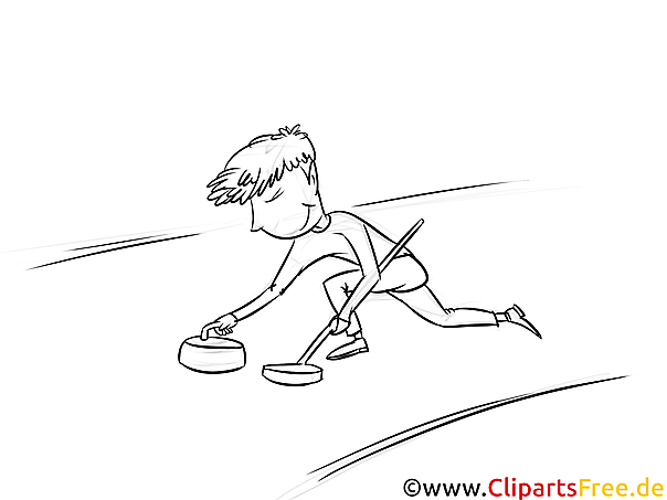Curling - Winter Sport Ausmalbilder