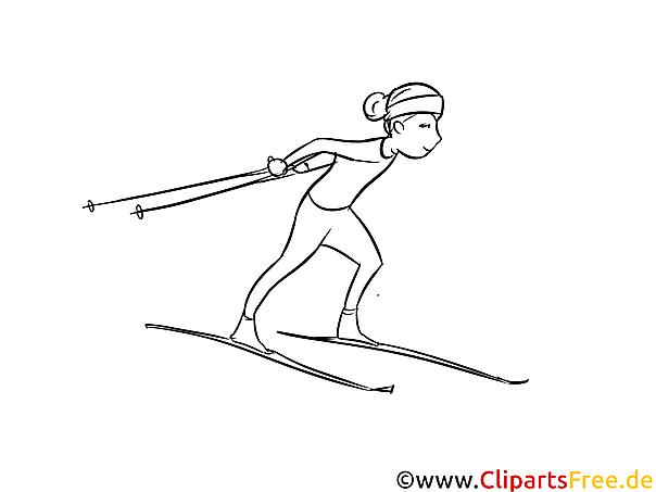 Ski Langlauf - Winter Sport Malvorlagen