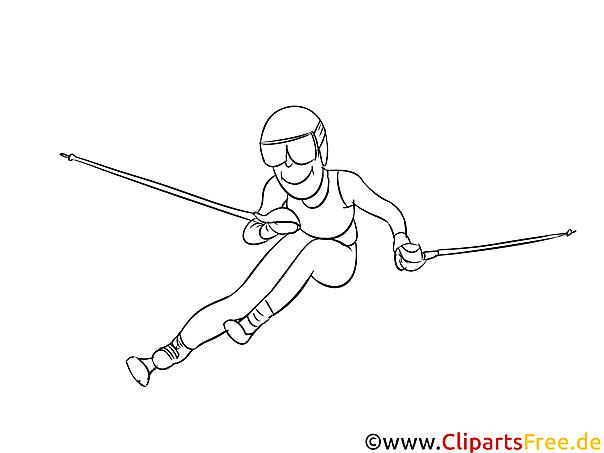 Ski Slalom - Winter Sport Malvorlagen