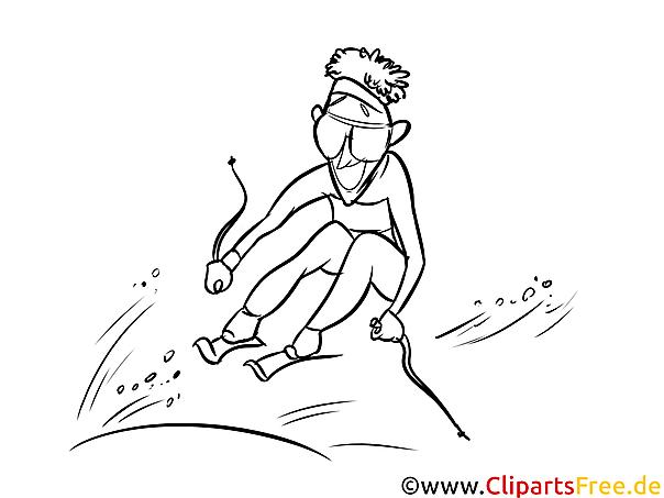 Ski Sport Malvorlagen im Winter