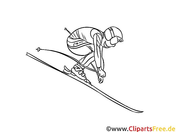 Ski Winter Sport Malvorlage