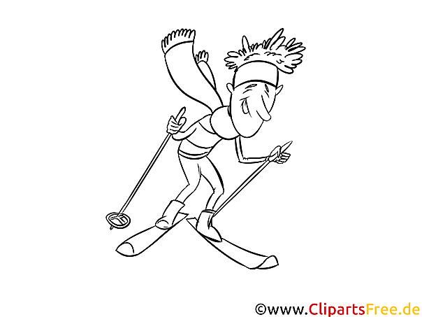 Skiurlaub - Winter Sport Ausmalbilder