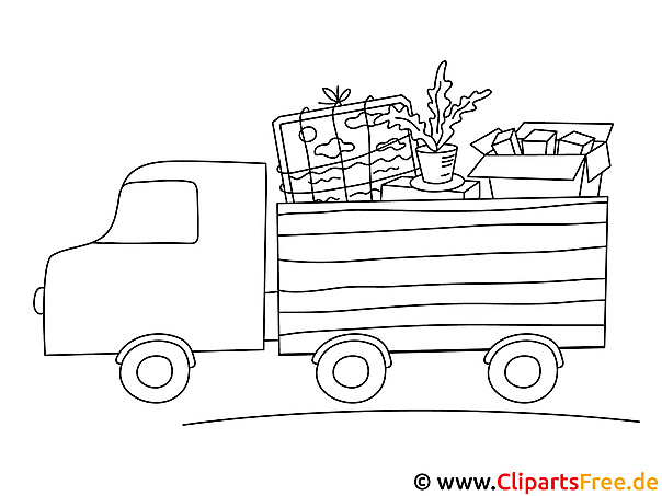 Ausmalbild LKW - Lastkraftwagen