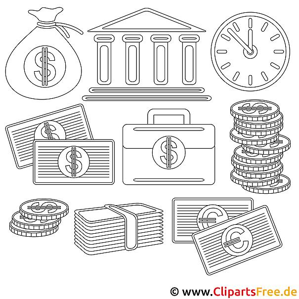 Bank Bild zum Ausmalen kostenlos