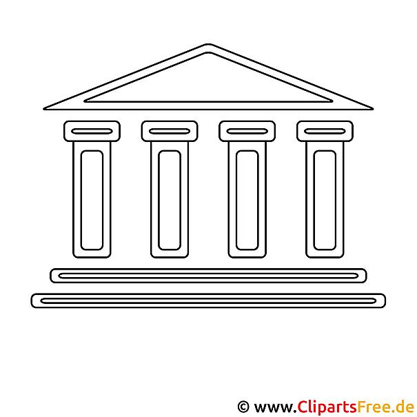 Bank Bild zum Ausmalen, Vorlage, Ausmalbild