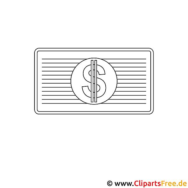 Dollar Bild zum Ausmalen kostenlos