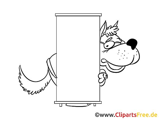 Wolf versteckt sich kostenlose Ausmalbilder