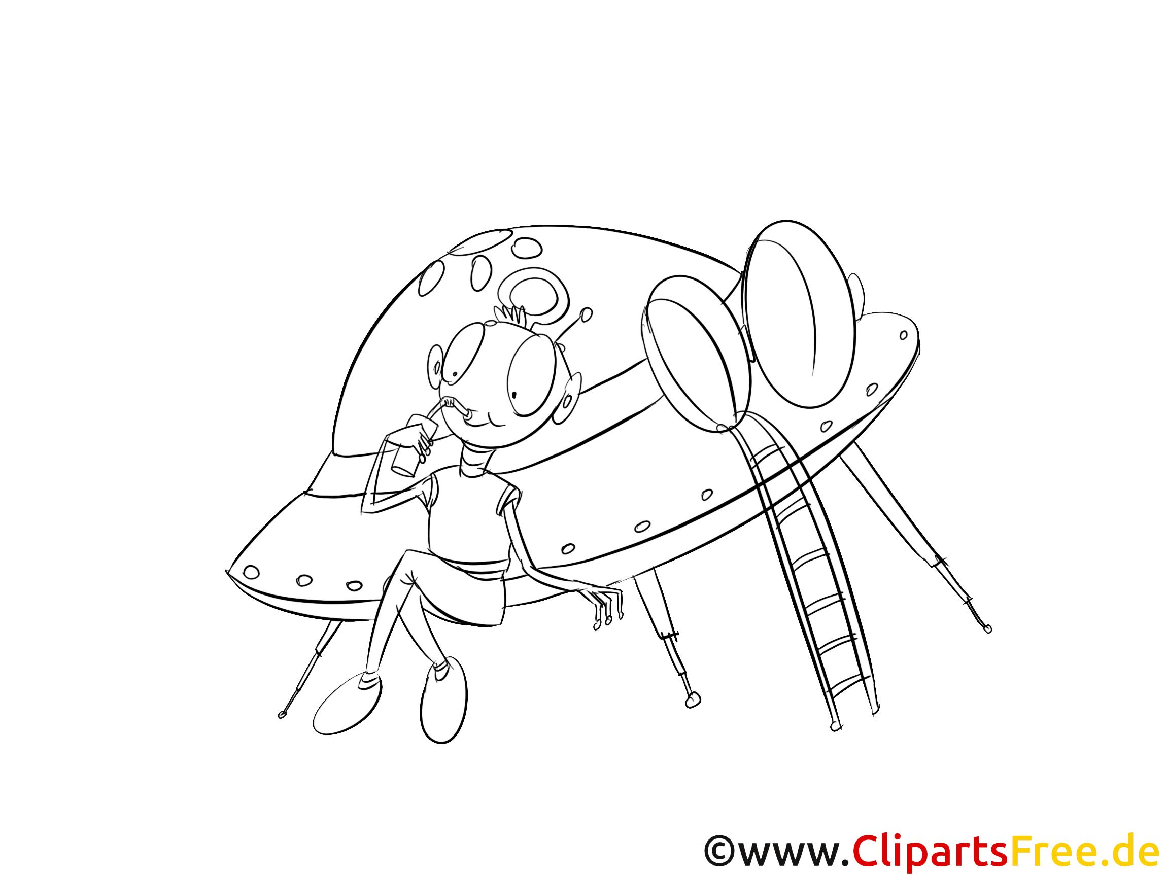 Fliegender Teller Ufo Malvorlage Kostenlos