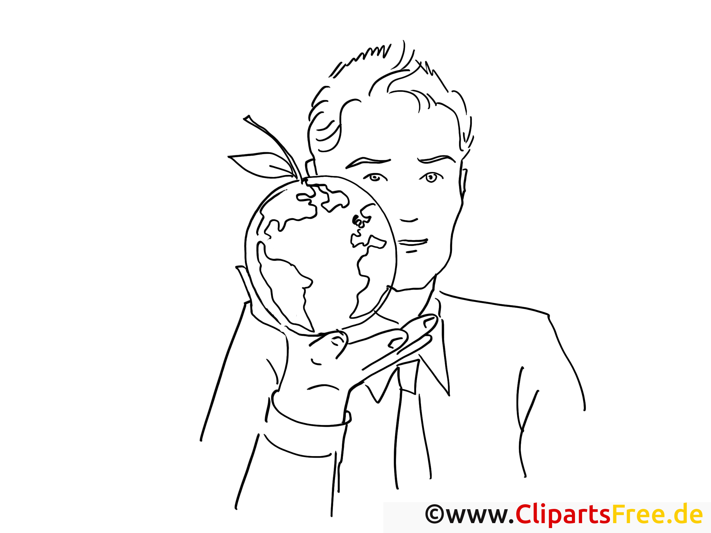 globusapple coloring page office work