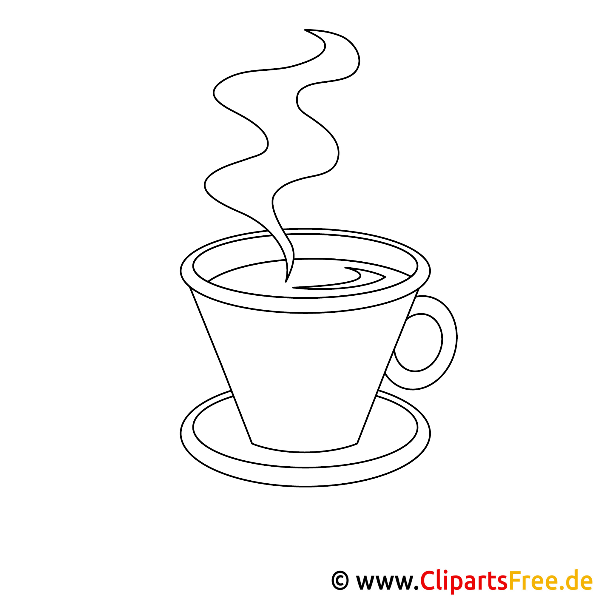 kaffeetasse bild zum ausmalen malvorlage ausmalbild. Black Bedroom Furniture Sets. Home Design Ideas