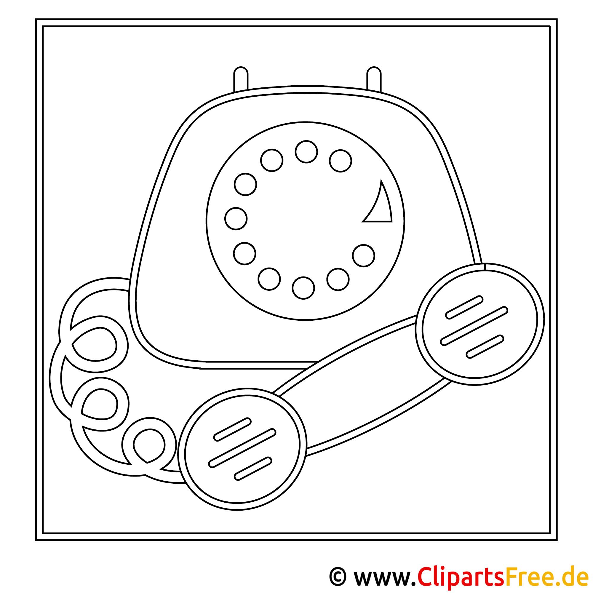 Telefon Bild zum Ausmalen, Malvorlage