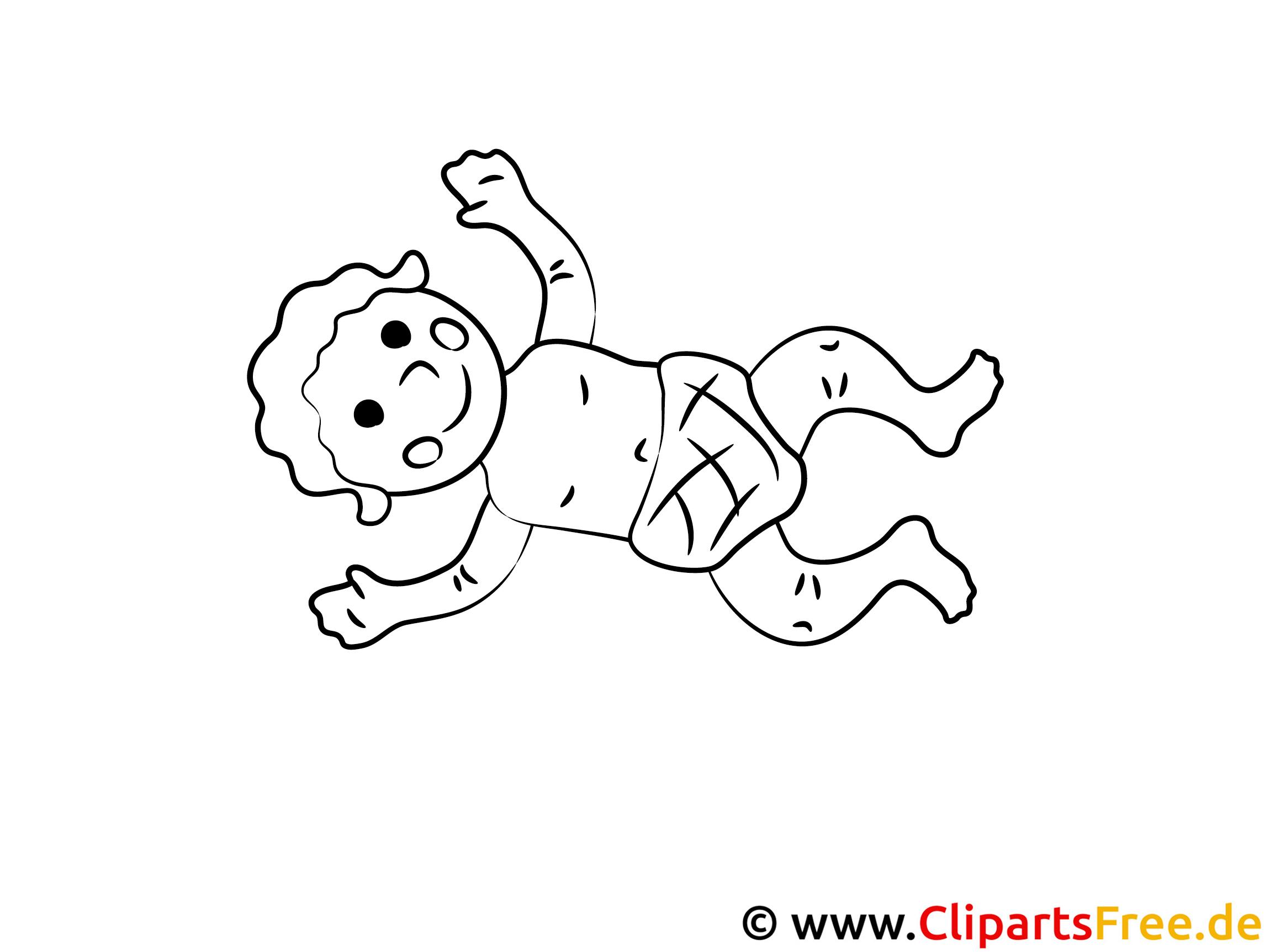 baby mit windel clipart zum ausmalen. Black Bedroom Furniture Sets. Home Design Ideas
