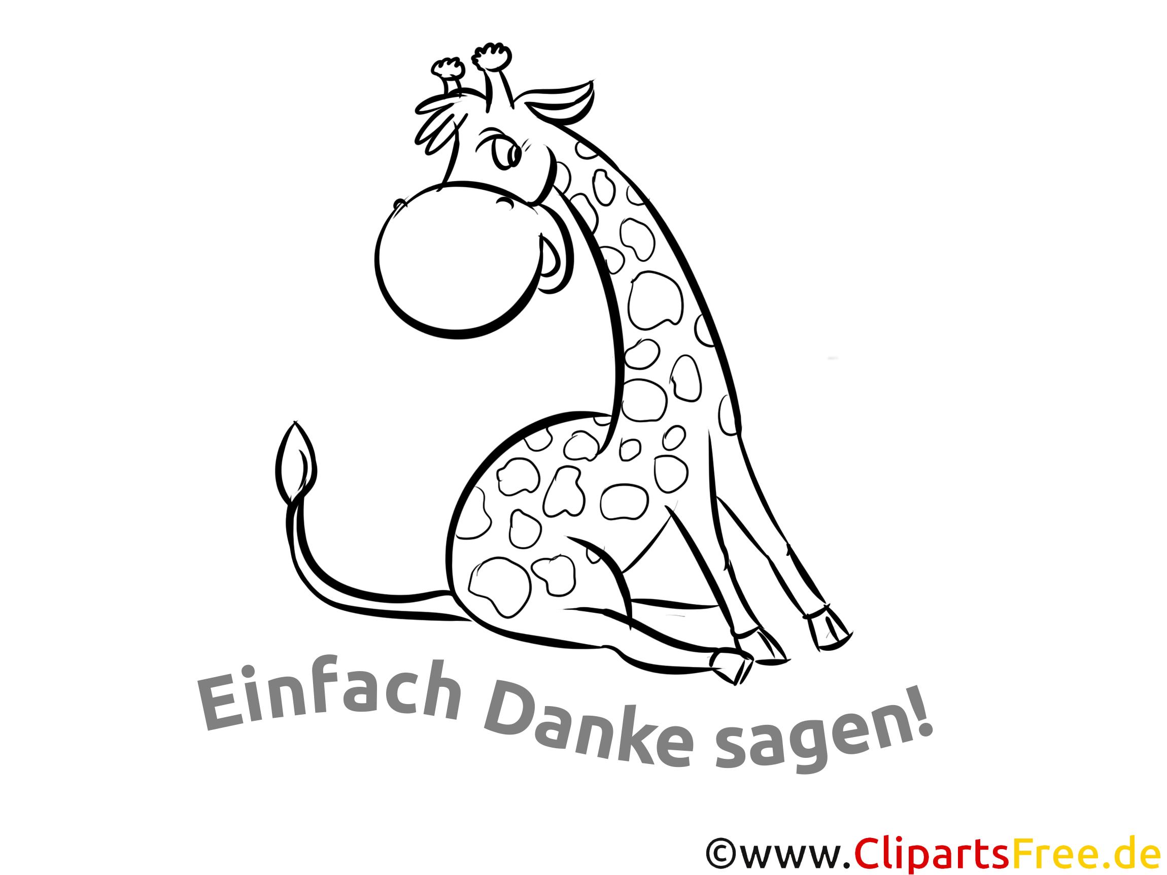 giraffe dankeskarte selber drucken. Black Bedroom Furniture Sets. Home Design Ideas