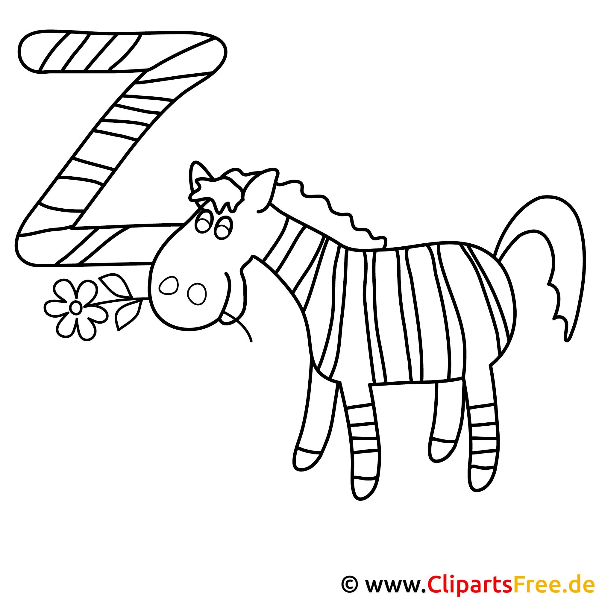 zebra  abc in englisch